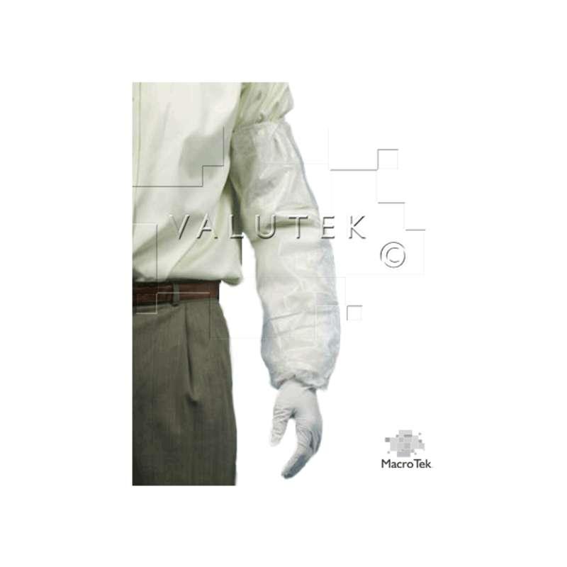 "Micro Tek® Cleanroom Disposable Polypropylene 21"" Sleeve, White, 200 per Case"