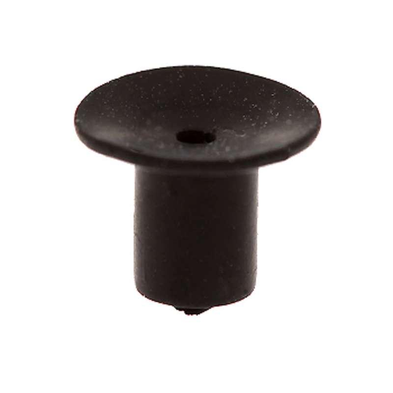 "ESD-Safe Black Static Dissipative Buna-N Rubber Vacuum Cup, 1/4"" Diameter"