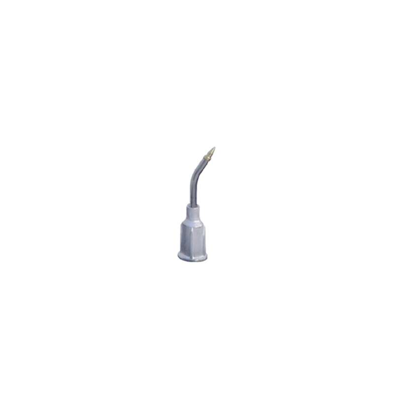 """ESD-Safe Bent Metal Vacuum Probe, .025"""" OD x .015"""" ID, with Gold Plated Brass Small Part Tip"""