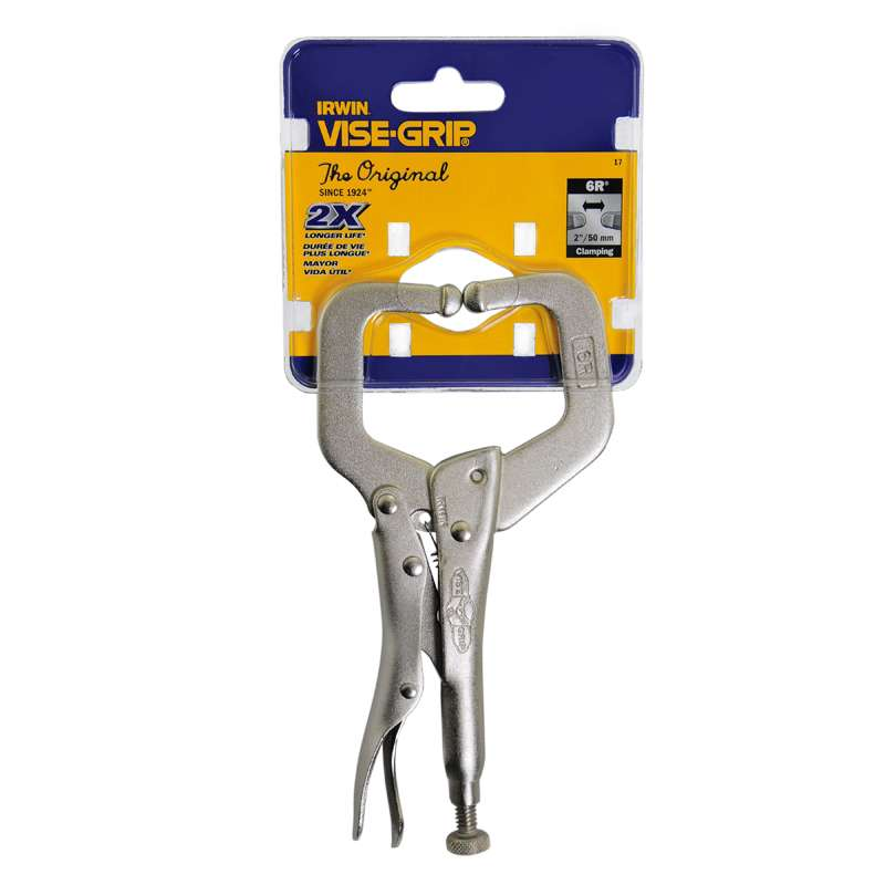 "Locking C-Clamp with Regular Tips 6"" L"