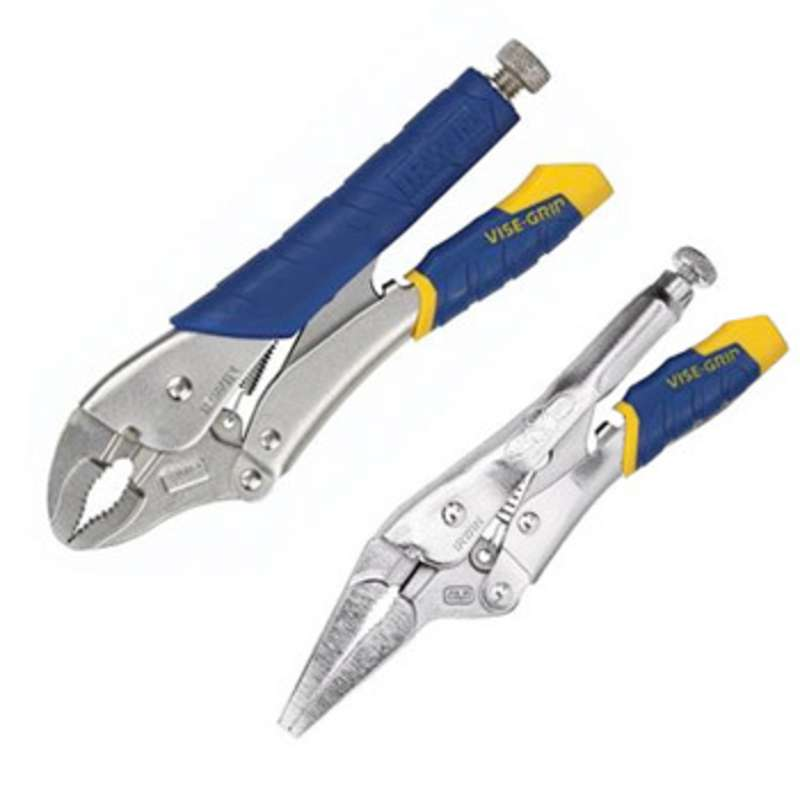 "FastRelease™ Locking Pliers Set, 10"" Curved Jaw and 6"" Needle Nose"