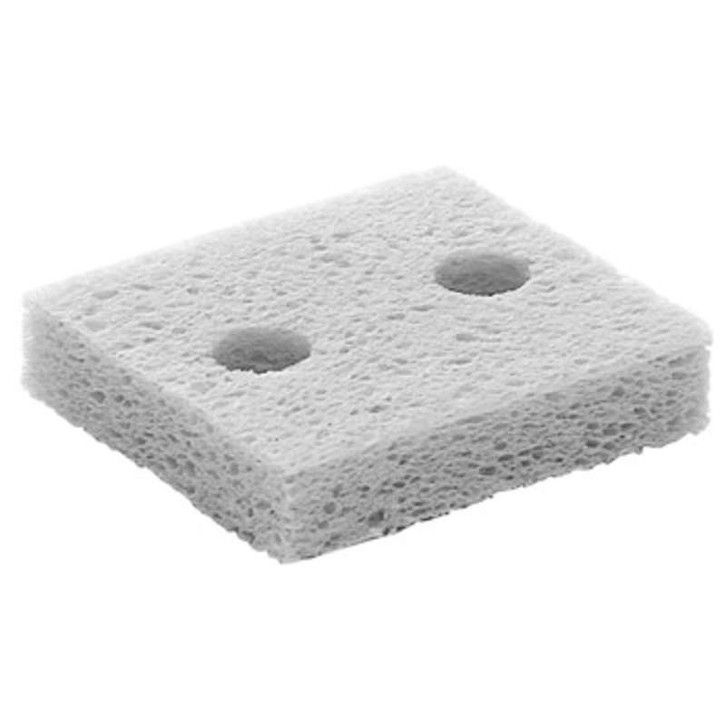 "Solder Tip Cleaning Sponge with Two Holes, 4-1/2"" x 3"" x 5/8"""