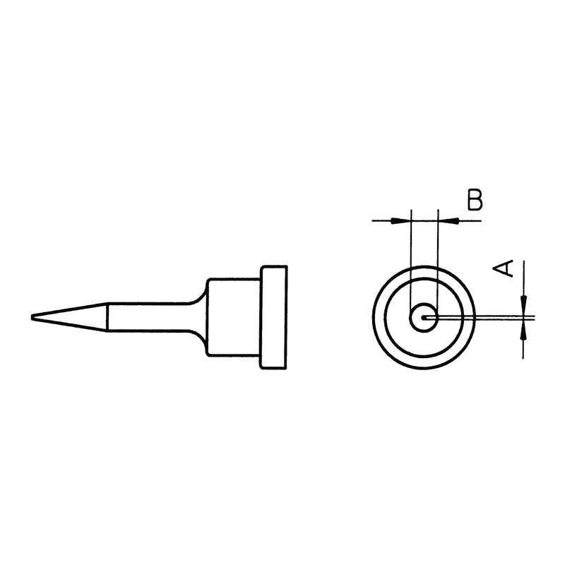 """LT Series Conical Solder Tip for WSP80 Iron, .53"""" x .008"""""""