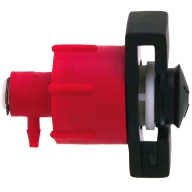 "Adapter Head Only, Metal, No Air Line, Accommodates 3/32"" Line, 10CC Capacity"