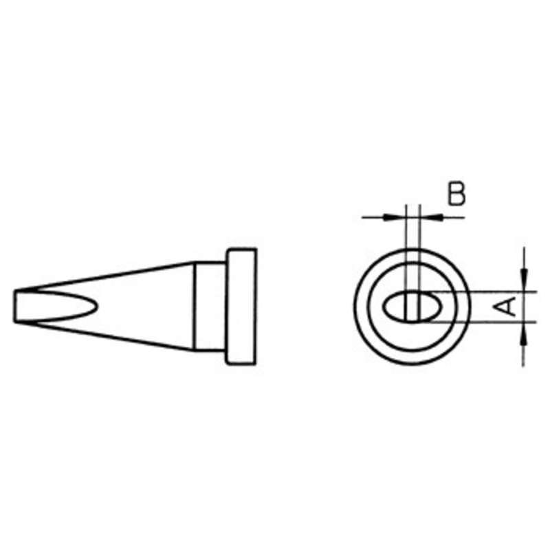 "LTA Chisel Solder Tip for WSP80 Iron, .063"" x .028"""
