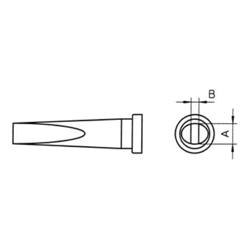 "LT Series Chisel Solder Tip for WSP80 Iron, .126"" x .047"""