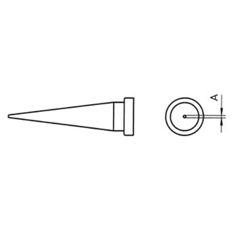 """LT Series Conical Solder Tip for WSP80 Iron, .790"""" x .016"""""""