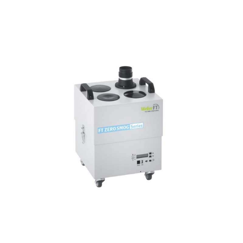 Zero Smog® 4V ESD-Safe Volume Fume Extraction Unit with Gas Filter, Maximum 4 Ports / 4 Stations