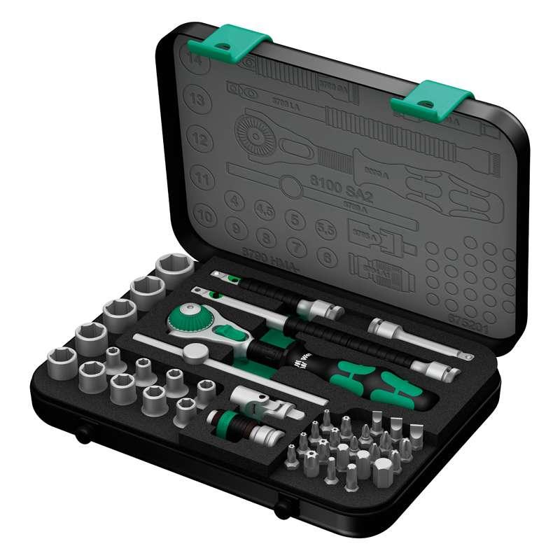 """Zyklop® Premium 1/4"""" Drive Metric Socket Set, 42 Pieces"""