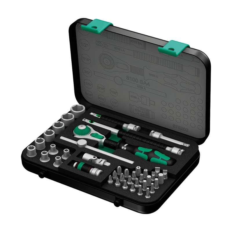 """Zyklop® Premium 1/4"""" Drive SAE Socket Set, 41 Pieces"""