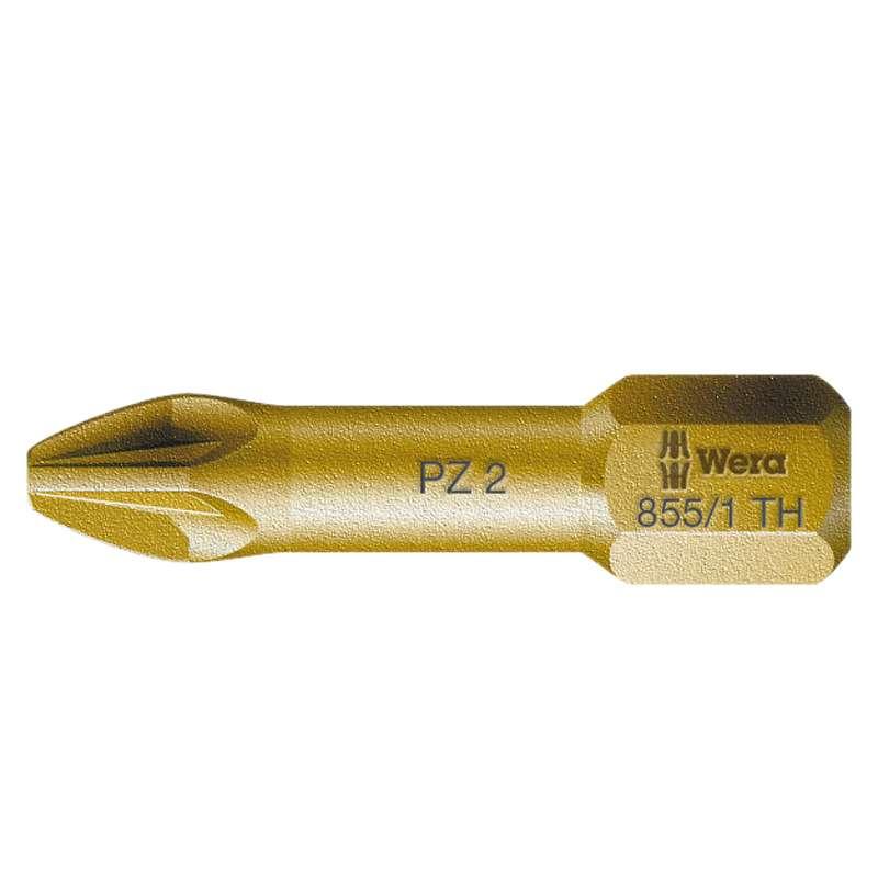"""855/1 Series Torsion Pozidriv Head Insert H Bit for 1/4"""" Hex Drive, #2 x 1"""" Long"""