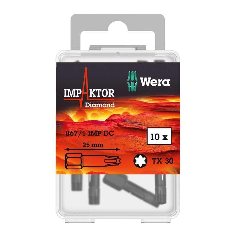"867/1 Series Impaktor® Diamond Coated Torx Insert Bit for 1/4"" Hex Drive, T30 x 1"" Long"