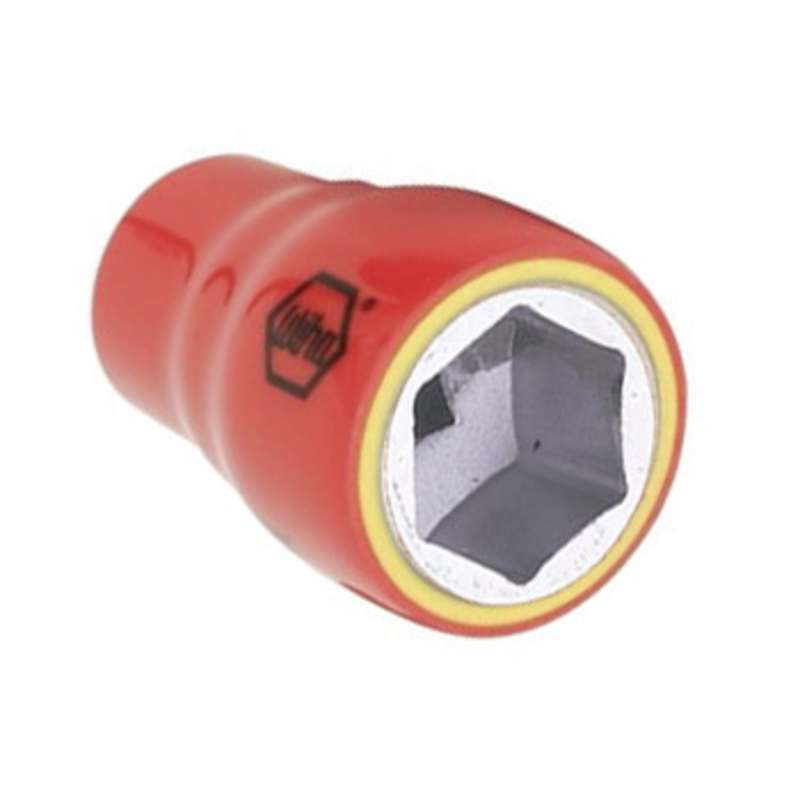 """Insulated 6 Point Standard Socket for 3/8"""" Square Drive, 9/32"""" x 1-3/4"""""""