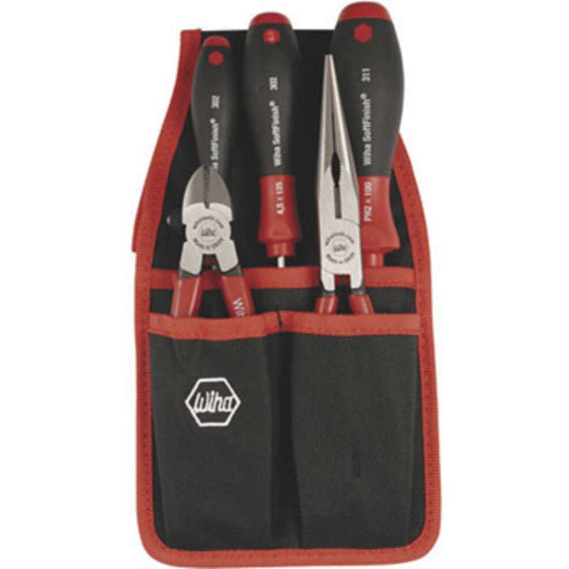Pliers, Cutters and SoftFinish® Screwdriver Tool Set with Belt Pouch, 5 Pieces