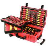 Insulated 1000V Tool Set in Tool Box, 80 Pieces