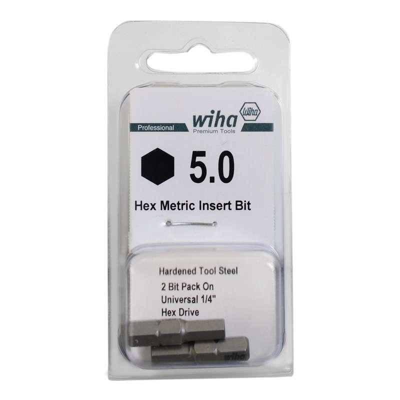 "Hex Head Insert Bit for 1/4"" Hex Drive, 5mm x 1"" Long"