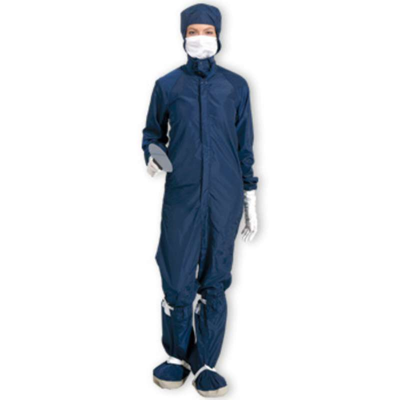 SC-3 ESD-Safe Cleanroom Raglan Sleeve Coverall with Zipper, Navy, 2X-Large