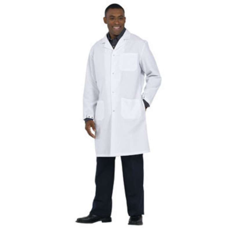 "Microstat ESD-Safe Heavy Weight Unisex 41"" Lab Coat, White, 3X-Large"