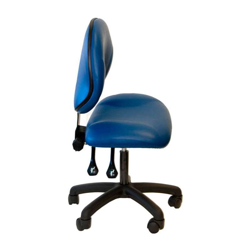 """Adjustable Height 19 - 24"""" Vinyl Cleanroom Chair with Tilt Control, Nylon Base, Drag Chain, and Casters"""