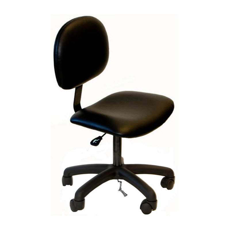 """ESD-Safe Adjustable 18-1/2 - 23-1/2"""" Vinyl Chair with Nylon Base and Casters"""