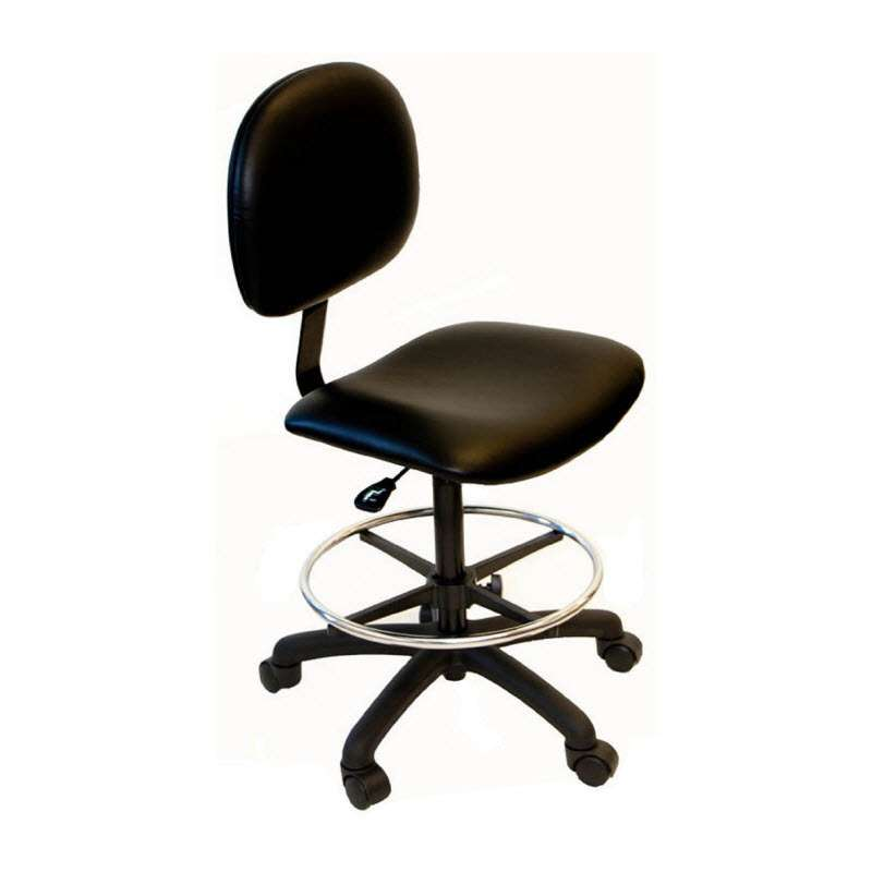 """Adjustable 20-28"""" Chair Standard Vinyl with Nylon Base, Casters and Footring"""