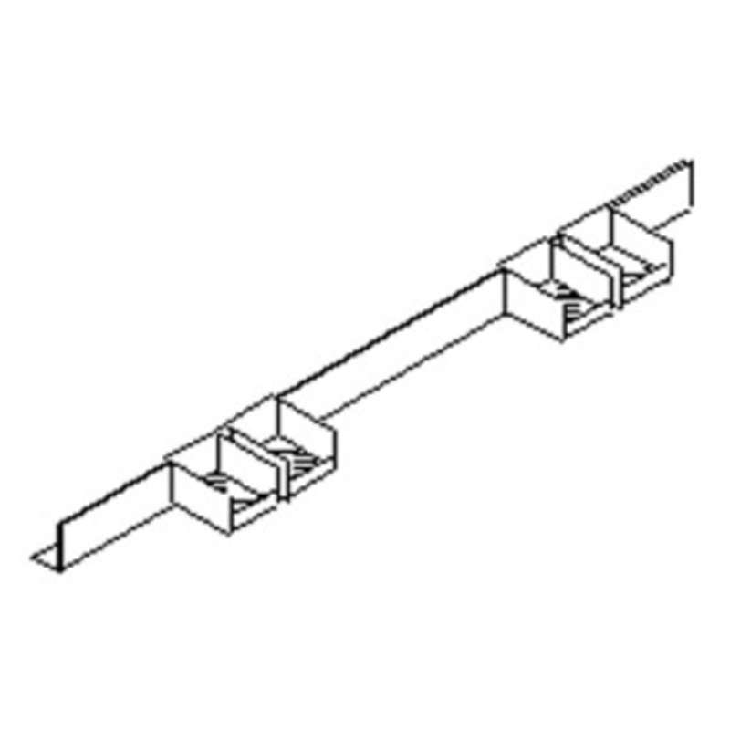 """Production Bench Series Quick Ship Parts Bin Rail Assembly, 96"""""""