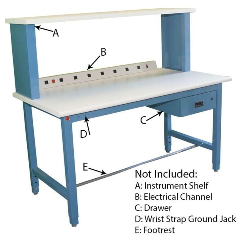 Phenomenal Production Series Quick Ship Esd Workbench Adjustable Height Ibusinesslaw Wood Chair Design Ideas Ibusinesslaworg