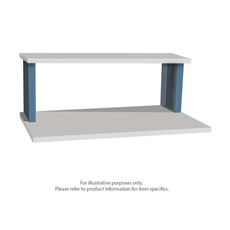 "Quick Ship ESD-Safe Riser Shelf for 48"" Production Workbench, 15""D x 48""W"
