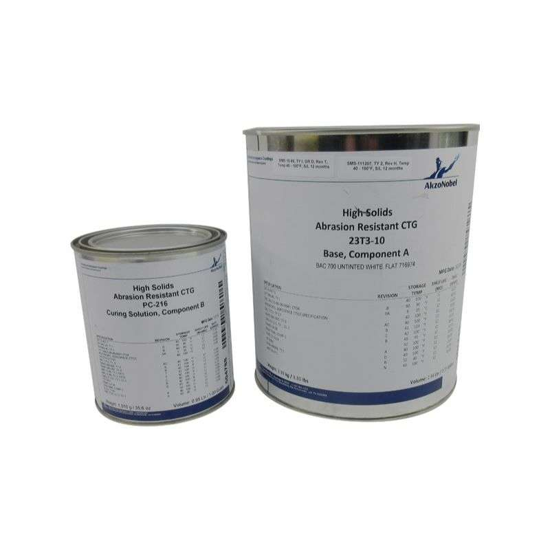23T3-10 Abrasion Resistant Polyurethane Coating with PC-216 Curing Solution, Flat White, 1/GA Kit