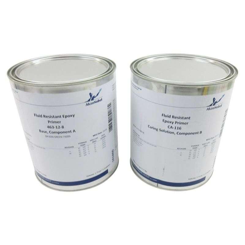 Interior Fluid Resistant 2 Component Epoxy Primer, 463-12-8/CA-116, DN9295 Green, 2 Gallon Kit