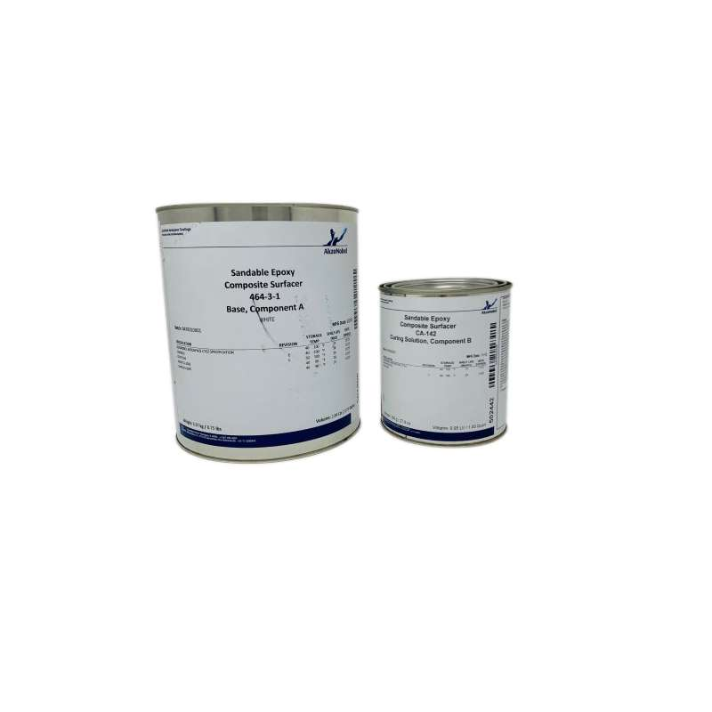 464-3-1 Epoxy Primer Surfacer with CA-142 Curing Solution, 1 Gallon Kit