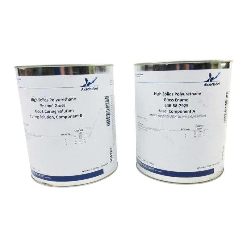 58-Series High Solids Polyurethane Gloss Enamel Topcoat  646-58-7925/X-501, Gloss White, 2 Gallon Kit