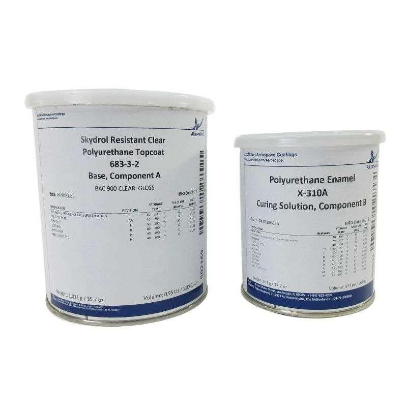 683-3-2 Skydrol® Fluid-resistant Polyurethane Topcoat, Clear, 1.5 Quart Kit