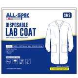 SMS Disposable Non-Woven Lab Coat, White, Large