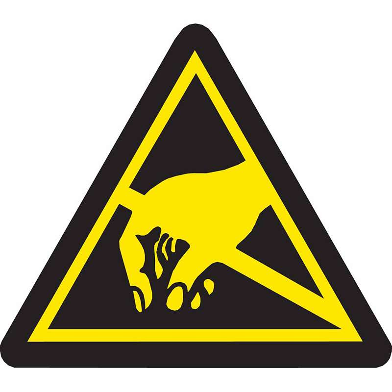 B-946 Warning Labels 1/2in H x 1/2 W, 10/PK
