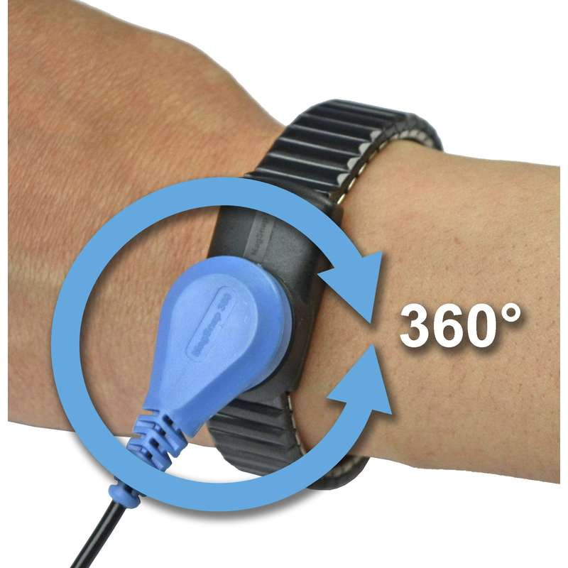 MagSnap 360 Expandable Dual-Wire Metal Wristband, Medium