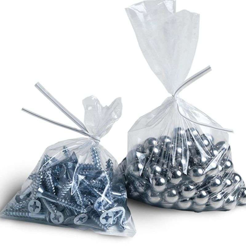 "Tuf-R® Clear Linear Low Density Polyethylene Bags, 1mil, 4 x 8"""