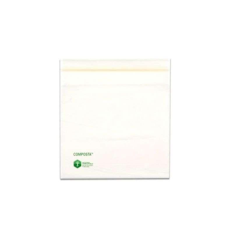 """COMPOSTA™ Translucent Zipper Bag, 2 Mil 6 x 6"""", 1000 Bags per Case"""