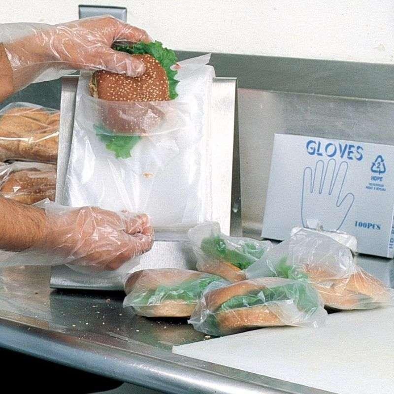 High Density Standard Clear Embossed Gloves in Dispenser Pack, 0.6 Mil, 100 per Case