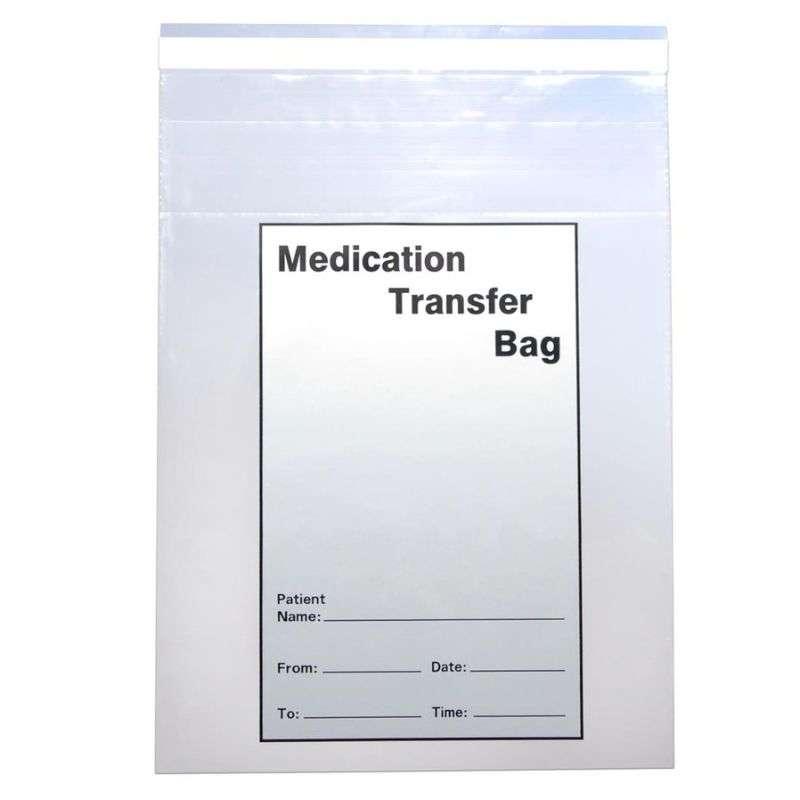 """Medication Transfer Tamper Evident Bag, 2 Mil 8 x 10"""", 1000 Bags per Case"""