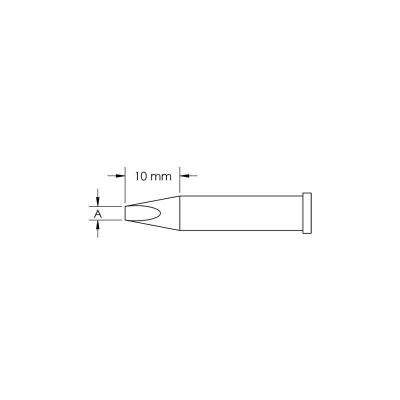 GT Solder Tip, T6, Chisel, (W x L) 6 x 10mm