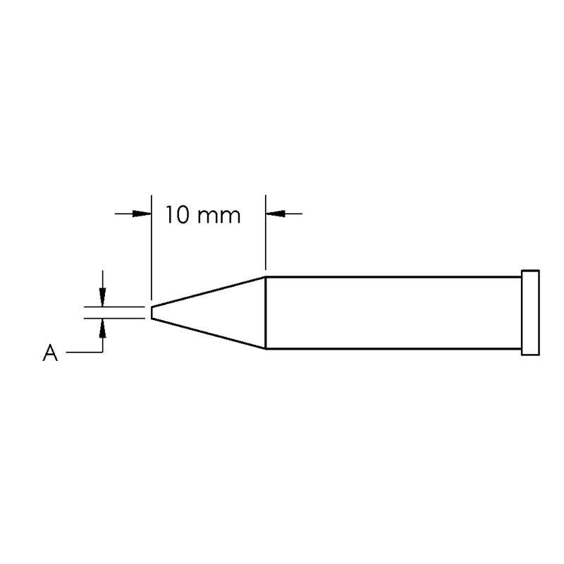 GT Solder Tip, T6, Conical, (Ø X L) 0.5 x 10mm