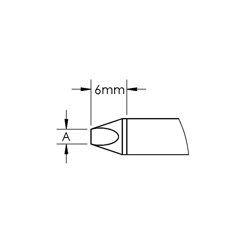 GT Cartridge, Chisel, Power, (W x L) 7 x 6mm