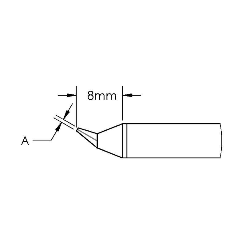 GT Cartridge, Conical, Bent, (Ø X L) 0.2 x 8mm