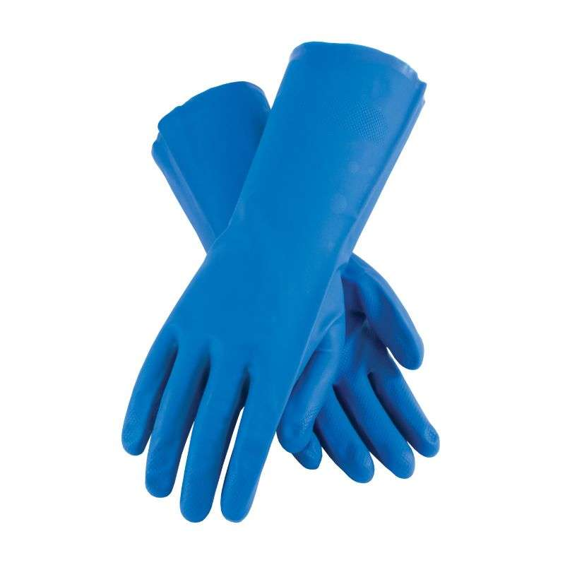Blue Diamond Raised Grip Chem Gloves, XXL