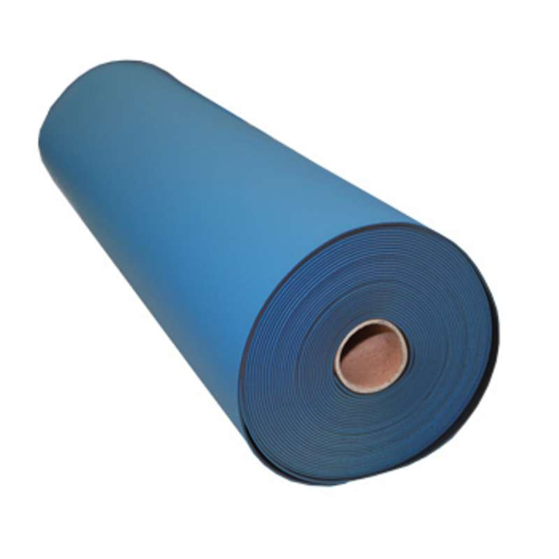 """FS Series 2-Layer Diss/Cond Smooth Econo Rubber Work Top Mat Roll, Blue/Black, 36"""" x 40' x .080"""