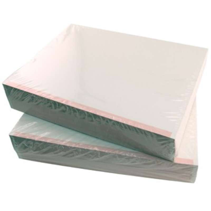 """ESD-Safe White Paper with Pink Stripe, 8-1/2 x 11"""", 500 Sheets per Ream"""