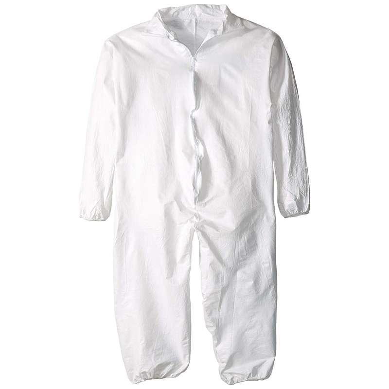 DSP125 Series Disposable Coverall with Elastic Wrists and Ankles, 4XL, 25 per Case