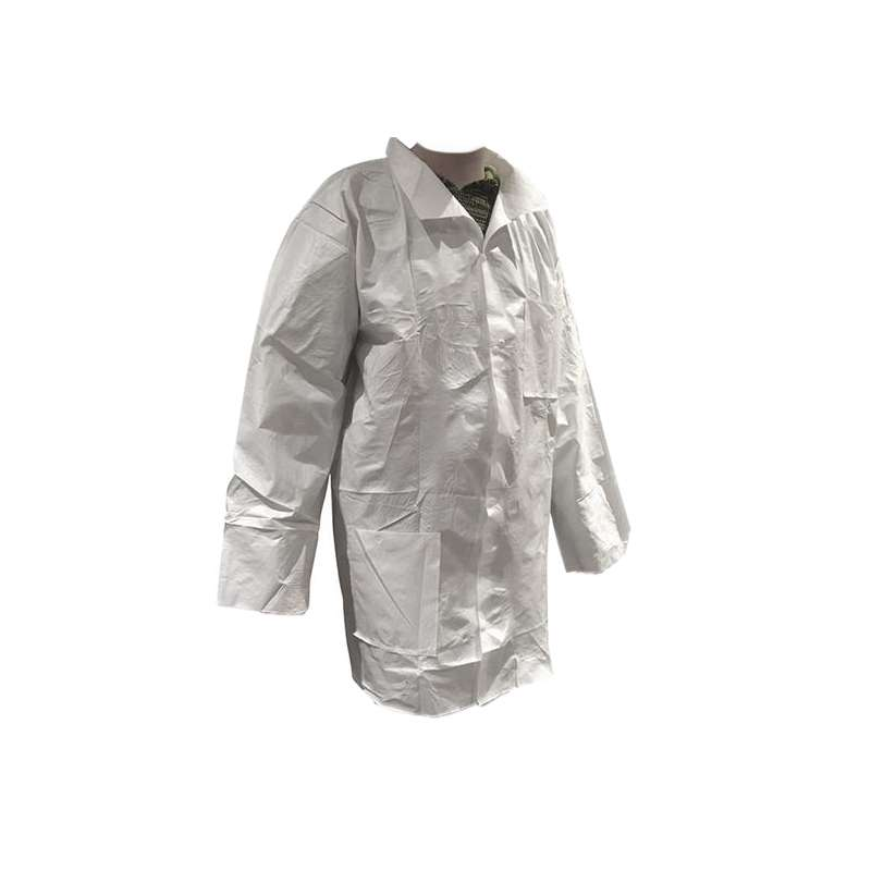 DSP300 Series Lab Coat with Snap Front and Open Cuffs, White, 4X, 30 per Case