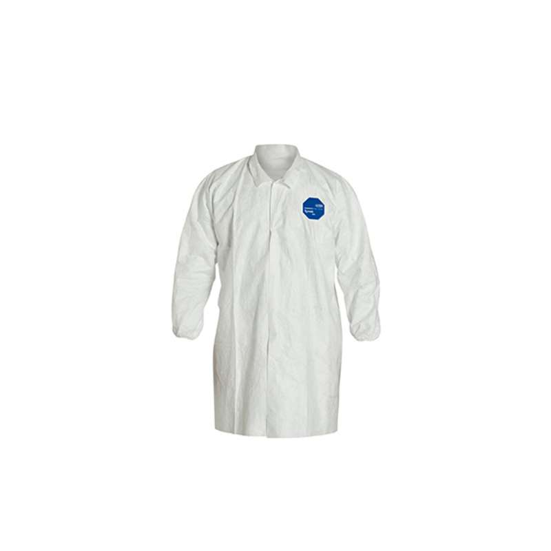 TY211S Series Lab Coat with Snap Front and Elastic Wrists, White, 4X, 30 per Case